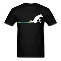 Wholesale Black Gildan Shirt - Fashion 2017 Top Tees Gildan Short Sleeve Gift Crew Neck Mens Unicorn Rainbow Poop Shirts