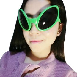 Wholesale funny frames - Alien Eyes Shaped Glasses Funny Party Dance Glasses Novelty Glasses Halloween Party Photobooth Props Favors OOA3040