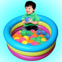 Wholesale Infant Inflatable Pool - Wholesale- Baby Inflatable Ocean Ball Pool Cute Yellow Colorful Infant Swimming Pool Play Toy Child Fish Pool Bathtub 72*30 cm 65*30cm