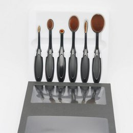 Wholesale Makeup Brushes Set Wholesale - Makeup Brushes set 6 pieces set Oval Makeup Brush Cosmetic Foundation BB Cream Powder Blush Brushes kit
