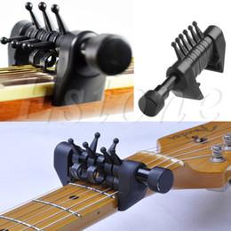 гитара гайка долбежные Скидка Многофункциональный 6 Аккорд Капо Открытая Настройка Паук Аккорды Для Акустической Гитары Струны