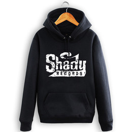 Wholesale Sweatshirt Eminem - Wholesale-Allover SHADY RECORDS Logo detroit Eminem hoodie Sweatshirt Unisex Black S-3XL