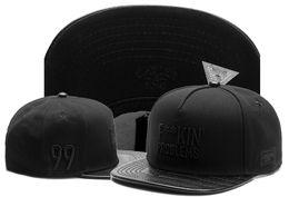 Problemas negros online-F ** KIN 'PROBLEMAS Cayler hijos snapback sombreros todos gorras de béisbol negro para hombres mujeres gorra deportes hip hop sombrero de sol plano TYMY 435
