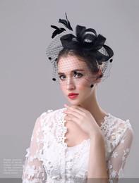 Peruca de bowknot on-line-Exclusivo Lady chapéu Cambric High-end Artesanal bowknot chapéus chapéus de Festa Para O Casamento festa de Halloween Dia de Natal