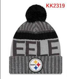 Wholesale Pittsburgh Hats - New Fashion Unisex Pittsburgh Steel Winter Hats for Men women Knitted Beanie Wool Hat Man Knit Bonnet Beanie Gorro Warm Cap