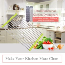 Wholesale Drain Dish Rack - Home Steel Wall Mount Dish Drying Rack Draining Dish Rack,Can Shelve Various Fruits and Vegetables , Dishes and Pans.