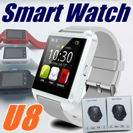 Wholesale U English - 20X Bluetooth Smartwatch U8 U Watch smartwatch A1 DZ09 GT08 for iPhone 4S 5 5S 6 6S 7 Samsung S4 S5 S8 Note 2 Note 3 HTC Android Phone A-BS