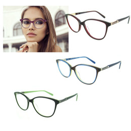 Wholesale 2017 Round Spectacle Frame for Female Grade Computer Glasses Fashion Reading Cat Eye Glasses Women Optical Prescription Eyewear