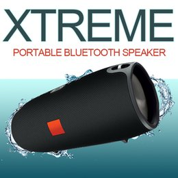 Wholesale Mini Bluetooth Speaker Battery - Xtreme waterproof speakers wireless mini bass bluetooth subwoofer built-in 4400 mAh rechargeable battery crystal clear for android ios