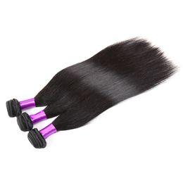 Wholesale Remi Indian Hair - DH Brazilian Peruvian Malaysian Indian Human Hair Weaves Straight 4 Bundles Cheap Cambodian Straight Remi Hair Extensions