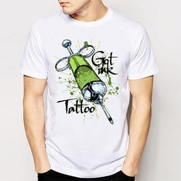 Wholesale Tattoo Tees - Brand+2017 Newest Summer Retro Cool Rock&Roll Tees Men'S Tops T-shirt Got Ink Tattoo? Tee Shirt