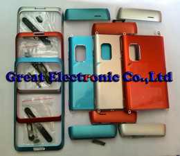 Wholesale Wholesale Faceplates Cell Phones - 50pc,Full housing faceplates for nokia e7 mobile phone body repair cover Cell phone replacement case panel frame+spare parts,drop shipping