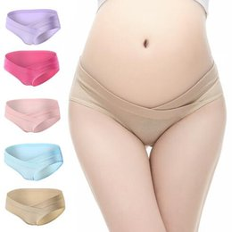 Wholesale Shaped Panties - 10 Colors Pregnancy Briefs Maternity Panties Lady Clothes Pregnant Women Underwear U-Shape Low Waist Maternity Underwear CCA7387 120pcs
