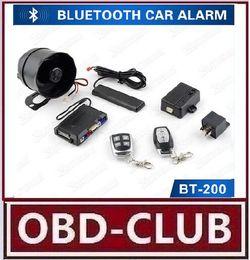 Wholesale Arm Bluetooth - 2017 Newest Arrival Bluetooth Control Car Alarm Vehicle Bluetooth PKE Car Alarm Arming SOS Car Alarm System with Learning Code