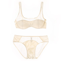 24fef5bc11b51 2017 sexy lingerie set half transparent underwear sets women cotton thin  cup bra set french lace bras and panties intimates discount french women  lingerie