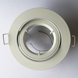 Wholesale Ceiling Lighting Fixtures - 3 Inches Die-cast Aluminum MR16 GU10 Ceiling Spotlight Mounting Bracket Recessed Down Light Fixture with White Brushed Nickel finish
