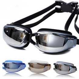 Wholesale Electroplated Goggles - Brand New Anti Fog UV Protection HD Swimming Goggles Professional Electroplate Waterproof Swim Glasses for Unisex IS0302