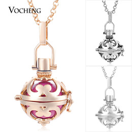 Wholesale vocheng pendant - Wholesale- Vocheng Caller Harmony 3 Colors Plating Copper Pendant Necklace with Stainless Steel Chain VA-213 Free Shipping