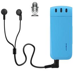Wholesale Digital Voice Recorder Wav Format - Wholesale- WR-16 Mini Professional 4GB Digital Voice Recorder with Belt Clip, Support WAV Recording Format(Blue)