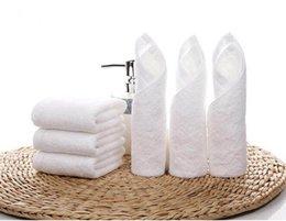 Wholesale Minimum Order Quantity - Factory direct sale grogshop private 30*30cm White cotton face towel customizable LOGO minimum order quantity 2000pic