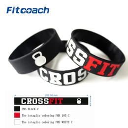 Wholesale Crossfit Wristbands - Wholesale- 2 Pcs CROSS FIT BRACELETS CrossFit Wristbands, Silicon Bracelet Band