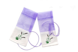 Wholesale Organza Bags Wedding Favors - Sachets Organza Bags Lavender 3x6 Inch Luxury Wedding Voile Gift Bag Jewelry Gift Pouches Bags For Wedding favors