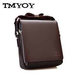 Wholesale browning leather sling - Wholesale-TMYOY 2016 Hot Sale! Famous Brand Quality Men Leather Bag Men Briefcase Sling Single Shoulder Business Men Messenger Bags BN006