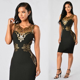 Wholesale Chandelier S - 2017 Plus Size Summer Sexy Sleeveless Dress Time-limited O-neck Slim Dress Chandelier Chic Decorative Party Dresses