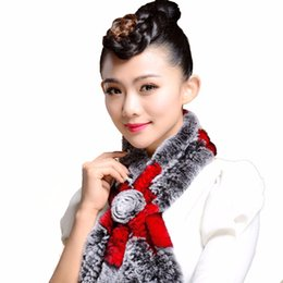 Wholesale Shawl Cape For Girl - Wholesale-Winter Warm Scarf For Women Natural Rabbit Fur Scarf Plus Size Wrap Cape Shawl Girls Warmth Neck Protect Fashion Brand scarves