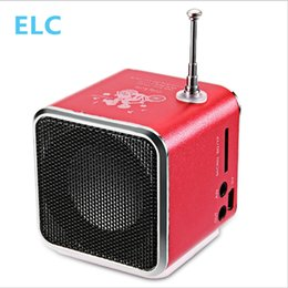 Wholesale Compatible Laptop Battery - Wholesale-Mini Portable Radio Speaker With LCD LED Display Support Micro SD TF Music Player Digital FM Compatible With Laptop Phones