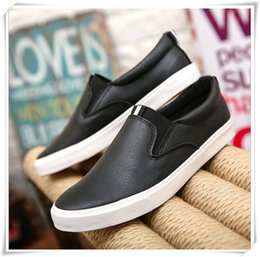 Wholesale Korean White Shoes For Men - 2017 new Korean men's casual shoes for low tide lazy all-match single Xieping shoes with the students