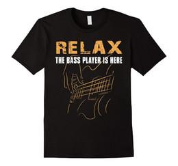 Wholesale Relaxed T Shirt - Men New High Quality T Shirt Bass Player -Relax The Bass Player Is Here Men'S Short Sleeve T Shirt