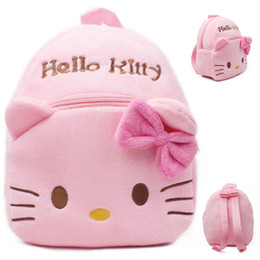 Wholesale Toys For Schools - 2017 New High Quality Hello Kitty plush school bag Cartoon soft Backpack Girl Toy Schoolbag baby cute mini bags For Kids Gift