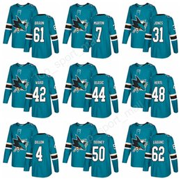 2018 San Jose Sharks Jerseys Ice Hockey 44 Marc-Edouard Vlasic 42 Joel Ward  7 Paul Martin 61 Justin Braun 31 Martin Jones 48 Tomas Hertl 40e3bed5f