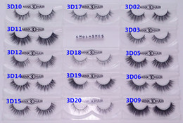 Wholesale Extension Eyelashes - 13-16mm 1 Pair box OEM&Private Logo Acceptable Real 3D Mink Hair Fur Eyelashes Messy Eye lash Extension Sexy Eyelash Full Strip Eye Lashes