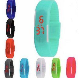 Wholesale Children Candy Bracelet Watch - watches Candy Color Men Women Watch Rubber LED kids Watches Date Bracelet Digital Sports Wristwatch Children watch