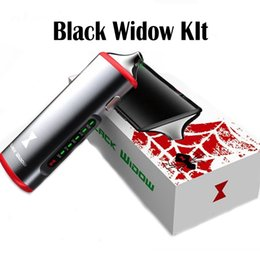 Wholesale Authentic Black Widow in Kit Dry Herb Vaporizer Wax Oil Kit In Kit Built in Battery Black Color