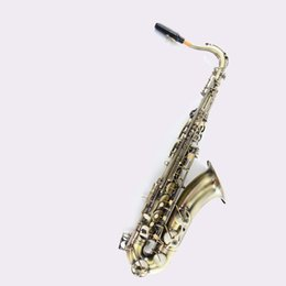Wholesale antiques musical instruments - wholesale Tenor sax Saxophone Bb antique brass surface Wind Instrument Sax Western Instruments saxofone Musical Instruments saxophone