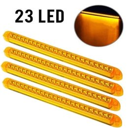 """Wholesale Amber Surface - 23LED 17""""Stop Turn Signal Clearance Truck Trailer Light Bar Surface Mount Amber Free shipping"""