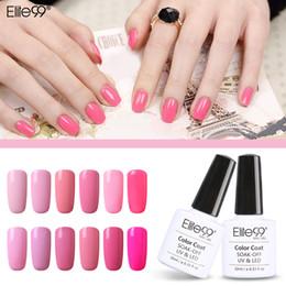 Wholesale Nail Lovely Kit - Wholesale-Elite99 12pcs Pink Color Gel Lovely Set For Nails Kit Gelpolish 10ml Nail Varnish Nail Art Pink Series Nail Polish Lamp to Dry