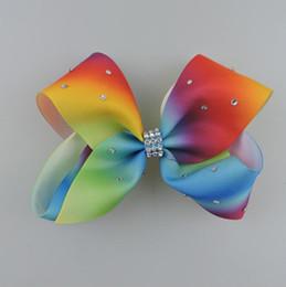 JOJO SIWA 12cm GRANDE Rainbow Signature HAIR BOW que clip niña Pinza de pelo de moda niños accesorios para el cabello desde fabricantes