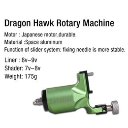 Wholesale Tattoo Machine Green Coils - High quality Green rotary tattoo machine gun with Space aluminum durable Japanese motor liner and shader WQ079