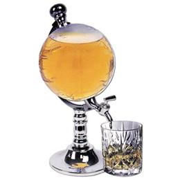 Pumpstangen online-Bier 1000cc Abs Standard / Metall Kreative Globe Shaped Beverage Liquor Dispenser Trinken Wein Bier Pumpe Single Canister Pump Bar Werkzeuge