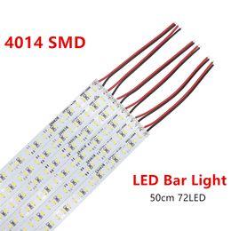 Wholesale Hard Wire - High Bright 4014 SMD 72 LED 50cm DC 12V Non-waterproof Hard Led Bar Lights Rigid light Strip