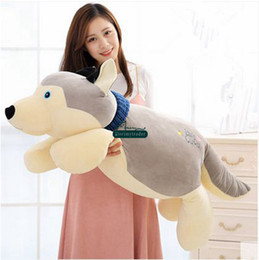 Wholesale Lying Dog Toys - Dorimytrader Huge 110cm Cute Soft Animal Dog Plush Toy 43'' Big Cartoon Lying Dogs Pillow Kids Play Doll Baby Gift DY60433