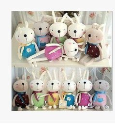 Wholesale Wedding Decorations Rabbit - 5PCS Many color smile rabbit cute and pretty plush toys Wedding decorations birthday present free shipping