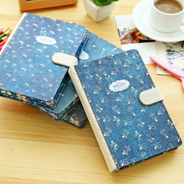 Wholesale Magnetic Notepads Wholesale - Wholesale- Korean Cute Stationery Lovely Magnetic Button Notebook Personal Diary Book 128 Pages Hardcover Personal Journal School Supplies