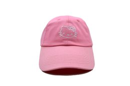Wholesale Snapback Hello - 2017 Hot Hello Kitty Ball Caps Fashion Baseball Cap Embroidery Snapback Adjustbale Snapbacks Woman Girl Lady Summer Sun Hats Golf Hat