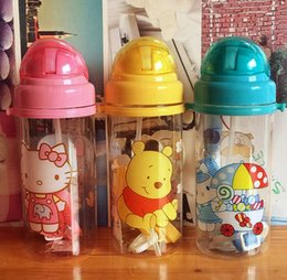 Wholesale Baby Centre - Wholesale- 450ml Eco-friendly PP Kid Bickiepegs baby kettle baby cartoon water bottle children Straw Bottle Children kettle sports bottle
