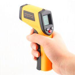 Display ir online-GM320 Display LCD laser senza contatto IR Termometro digitale a infrarossi per temperatura di selezione C / F per uso domestico